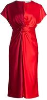 Prabal Gurung Jackie Knotted Silk Dress