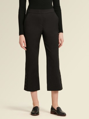 DKNY Donna Karan Women's Side Button Pant - Black - Size 2