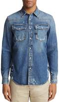 G Star 3301 Regular Fit Denim Button-Down Shirt