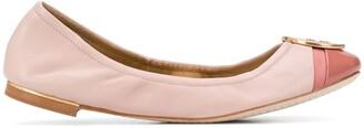 Tory Burch Logo-Plaque Ballerina Flats