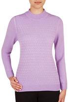 Allison Daley Petite Mock Neck Sweater
