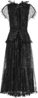 Rodarte Sequined tulle maxi dress