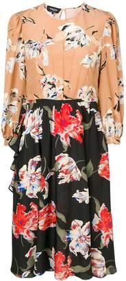 Rochas Two-Tone Dress