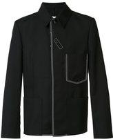 Maison Margiela contrast stitch shirt jacket