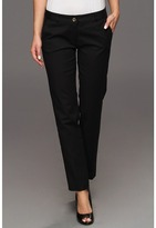 MICHAEL Michael Kors Stretch Cotton Sexy Skinny Ankle (Navy) - Apparel