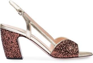 Miu Miu Glitter-Effect 75mm Sandals