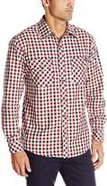 Dickies Men's Regular Fit Long Sleeve Herringbone Plaid Shirt