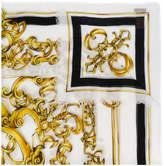 Versace Baroccoflage print scarf