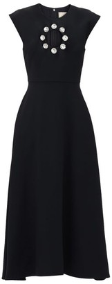 Christopher Kane Crystal-embellished Cut-out Midi Dress - Black