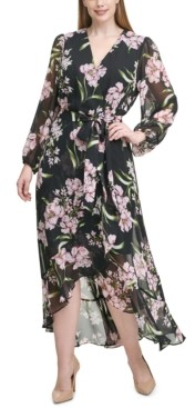 Jessica Howard Plus Size Floral Chiffon Maxi Dress