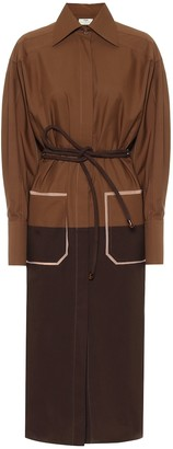 Fendi Silk-twill shirt dress