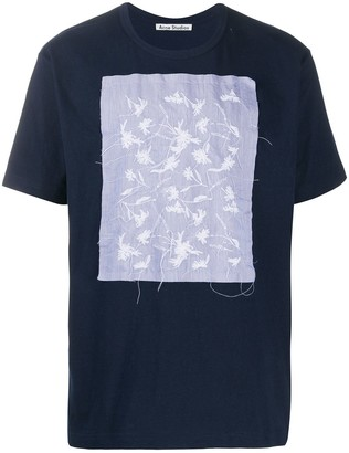 Acne Studios floral embroidery T-shirt