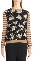 Marni Women's Stripe & Floral Print Sweater