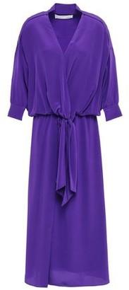 Victoria Victoria Beckham Victoria, Victoria Beckham Knotted Draped Silk-crepe Midi Dress