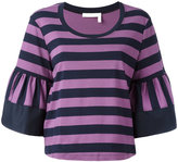 See by Chloe striped knitted top