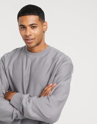Topman long sleeve t-shirt in grey