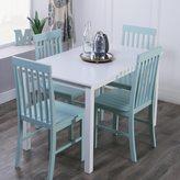 Walker Edison White/ Sage Green 5-piece Dining Set