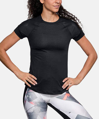 Under Armour Women's Tee Shirts BLACK - Black HexDelta Cutotut Short-Sleeve Tee - Women