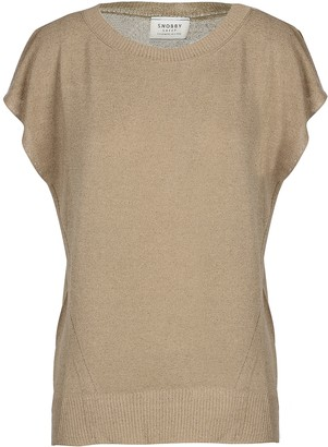 Snobby Sheep Light Brown Viscose and Linen Women's Sweater