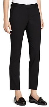 Theory Testra Wool-Stretch Classic Crop Pants