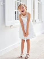 Vertbaudet Girl's Occasion Dress with Applique Flower
