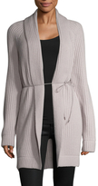 Helmut Lang Wool Cashmere Ribbed Self Tie Cardigan