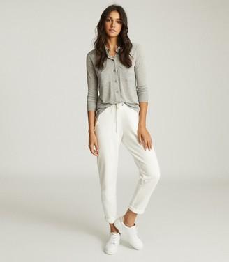 Reiss Nancy - Twin Pocket Jersey Shirt in Grey