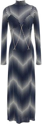 Paco Rabanne Polka-dot Stretch-jersey Midi Dress
