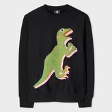 Paul Smith Men's Black Organic-Cotton 'Dino' Print Sweatshirt