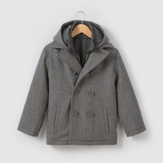 La Redoute Collections Wool Mix Pea Coat, 3-12 Years