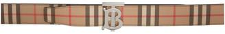 Burberry Reversible Beige E-Canvas Monogram Belt