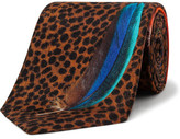 Paul Smith Leopard Feather Print Tie