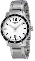 Tissot Men's 'Quickster' Swiss Quartz Stainless Steel Casual Watch, Color:Silver-Toned (Model: T0954101103700)
