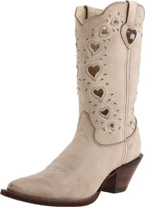 Durango Women's Crush Heart Western Boot Beige 6.5 B US