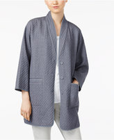 Eileen Fisher Textured Organic Cotton Pocketed Blazer
