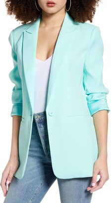 Endless Rose Tailored Single Button Blazer
