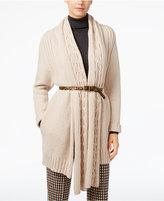 Max Mara Mixed-Knit Wool Cardigan