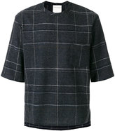 Stephan Schneider checked short sleeve sweater