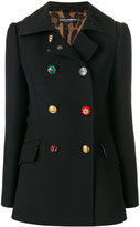 Dolce & Gabbana Wool Blend Double-Breasted Coat