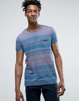 Boss Orange By Hugo Boss Multi Stripe T-shirt One Pocket Regular Fit In Blue
