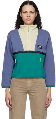 New Balance Purple Colorblocked Terrain Half-Zip Sweatshirt