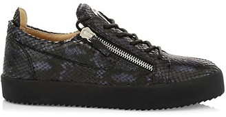 Giuseppe Zanotti Mirelle Crocodile-Embossed Leather Low-Top Sneakers