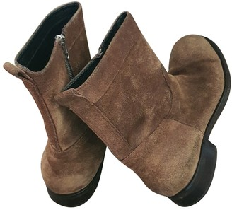 DSQUARED2 Brown Suede Boots