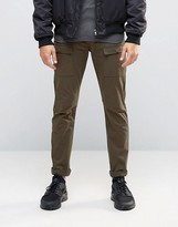 Asos Super Skinny Pants With Cargo Styling In Khaki