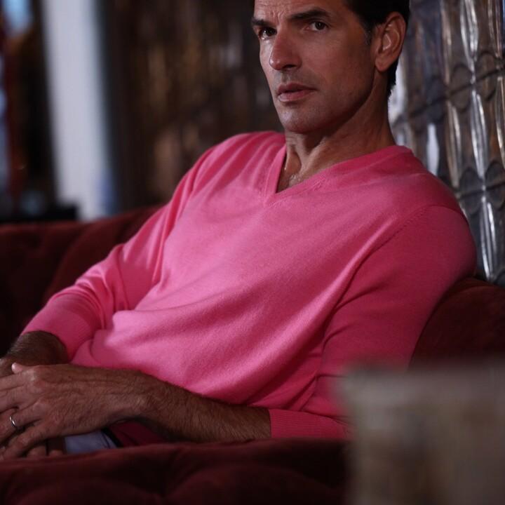 Thumbnail for your product : Romeo Merino - Merino Wool V-Neck Sweater Salmon