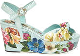 Dolce & Gabbana Blooming Floral 50mm Leather Sandals