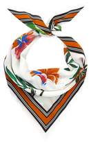 Claudie Pierlot Silk Birds of Paradise Print Scarf