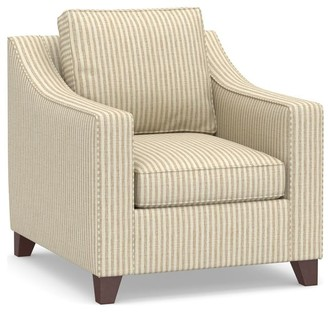 Pottery Barn Cameron Slope Arm Deep Seat Upholstered Armchair