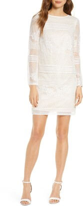 SHO Long Sleeve Lace Cocktail Dress