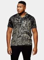 TopmanTopman BIG & TALL Black Zebra Print Revere Shirt*